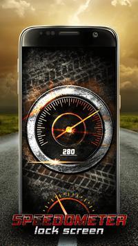 Speedometer Lock Screen poster