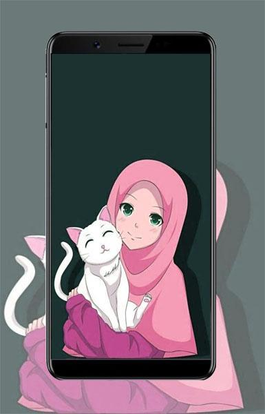 Hijab Muslimah Wallpapers Cartoon For Android Apk Download