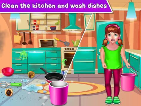 Baby Girl Cleaning Home screenshot 13