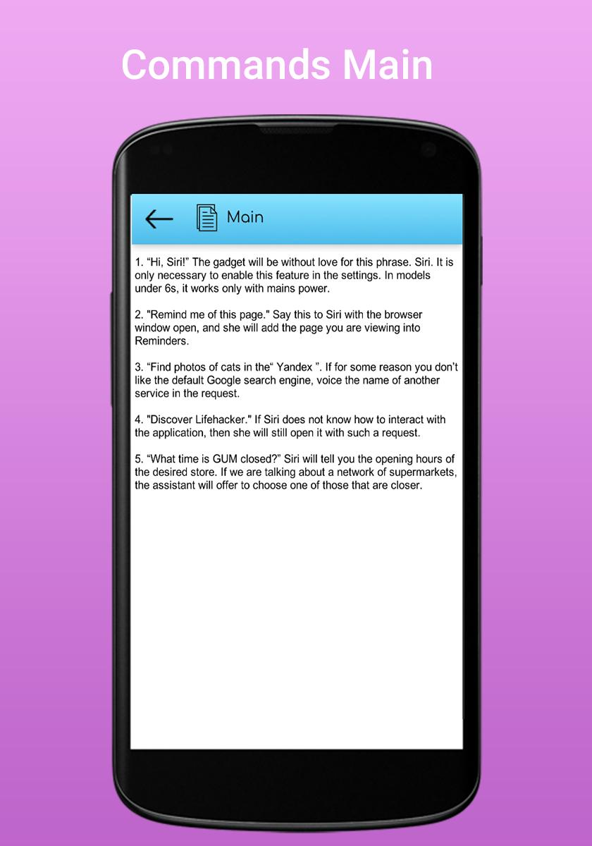 Siri voice command for Android - APK Download