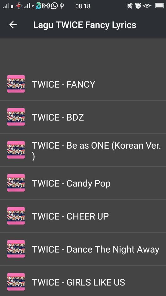 Lagu TWICE 'Fancy' Lyrics for Android - APK Download