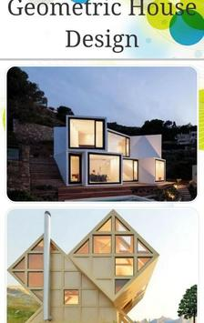geometric house design poster