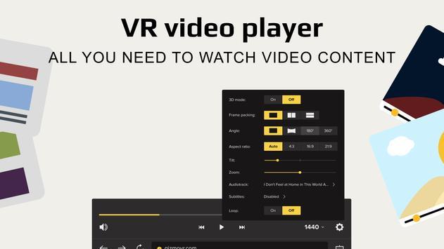 Gizmo VR Video Player: 360 Virtual Reality Videos syot layar 1