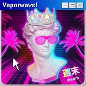 Glitch and Vaporwave Photo Editor icon