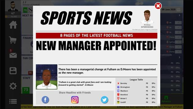 Club Soccer Director 2021 - Football Club Manager screenshot 10