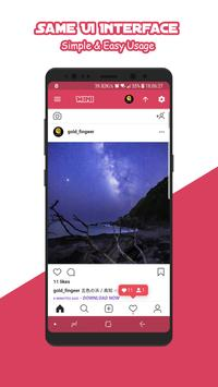 Mini for Instagram - Zoom Profile HD Downloader imagem de tela 2