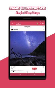 Mini for Instagram - Zoom Profile HD Downloader imagem de tela 9