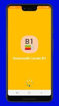 Deutsche Grammatik lernen B1 poster