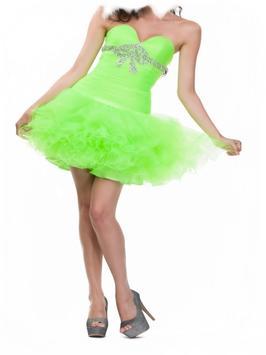 Green Party Dress For Woman screenshot 3