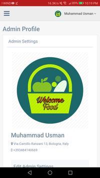 Admin Panel Welcome Food screenshot 6