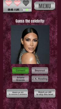 Zoomed-in Celebrity Quiz - New screenshot 2