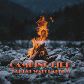 Camping Fire Forest Wallpaper icon