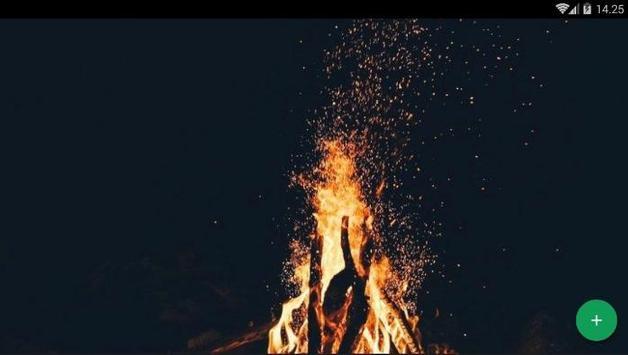 Camping Fire Forest Wallpaper screenshot 4