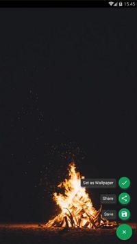 Camping Fire Forest Wallpaper screenshot 1