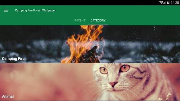 Camping Fire Forest Wallpaper screenshot 2