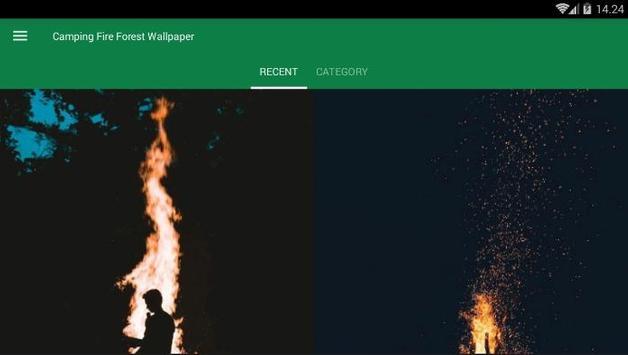 Camping Fire Forest Wallpaper screenshot 3