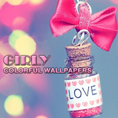 Girly Colorful Wallpaper icon