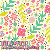 Flower Pattern Colorful Wallpaper icon