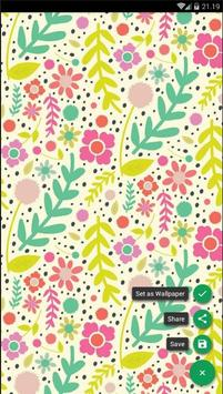 Flower Pattern Colorful Wallpaper poster