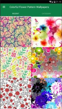 Flower Pattern Colorful Wallpaper screenshot 1