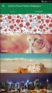 Flower Pattern Colorful Wallpaper screenshot 2