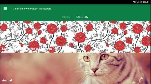 Flower Pattern Colorful Wallpaper screenshot 3