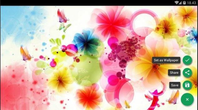 Flower Pattern Colorful Wallpaper screenshot 4