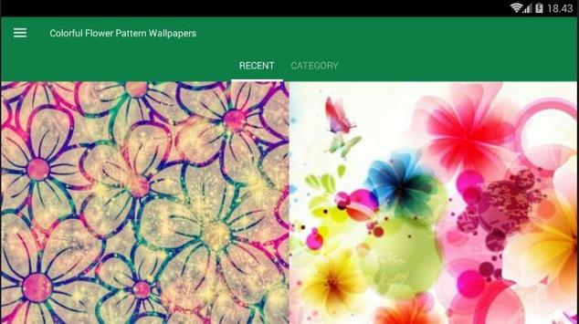Flower Pattern Colorful Wallpaper screenshot 5