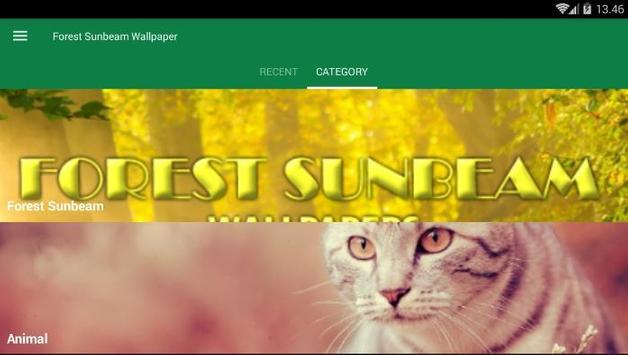 Sunbeam Forest Wallpaper screenshot 2