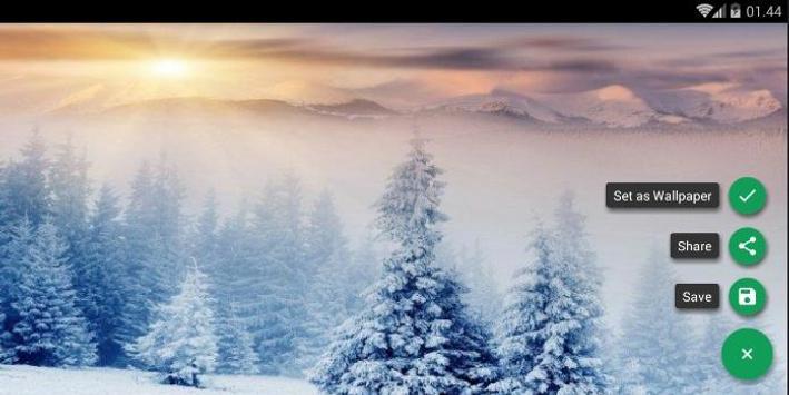 Snowy Forest Wallpaper screenshot 5