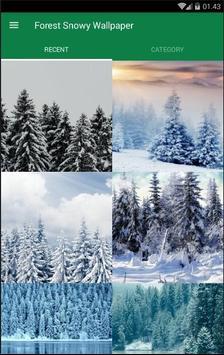Snowy Forest Wallpaper screenshot 1