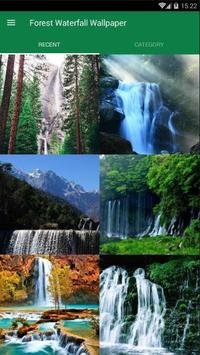 Waterfall Forest Wallpaper poster