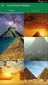 Pyramid Desert Wallpaper poster