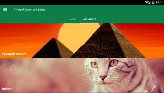 Pyramid Desert Wallpaper screenshot 2