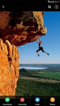 Rock Climbing HD Wallpaper poster