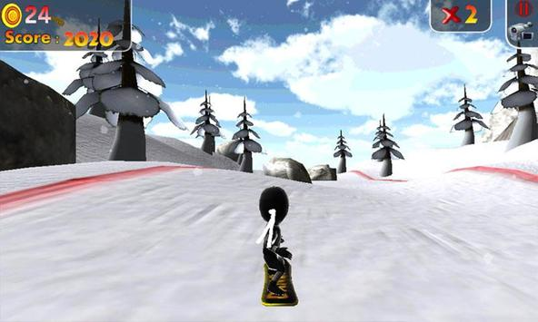 Real Snowboard Endless Runner screenshot 1