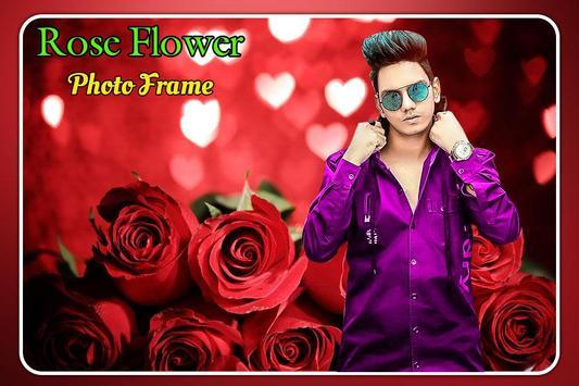 Rose Flower Photo Frame poster
