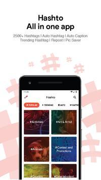 Hashto - Hashtags Captions Picsaver Repost Crop poster