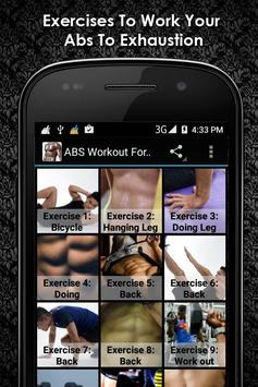 ABS Workout For Men : Offline poster