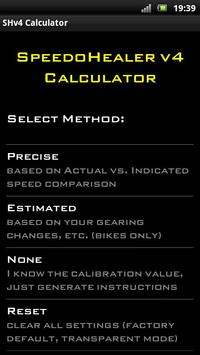 Poster Speedo Healer Calculator
