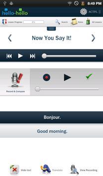 Learn French Hello-Hello screenshot 1