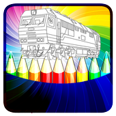 Drawing Coloring Trains Pro icon