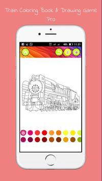 Drawing Coloring Trains Pro screenshot 1