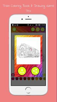 Drawing Coloring Trains Pro screenshot 2