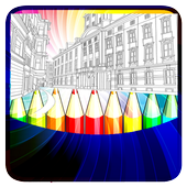 Coloring Travel icon
