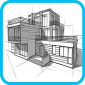 How To Draw Architecture Sketch Complete icon