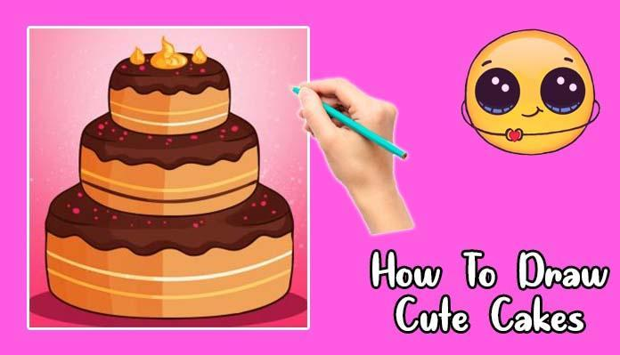 Superb How To Draw Cute Cake For Android Apk Download Funny Birthday Cards Online Hendilapandamsfinfo