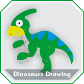 Easy Dinosaurs Drawing Tutorial Step by Step icon