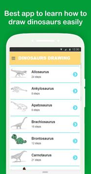 Easy Dinosaurs Drawing Tutorial Step by Step poster
