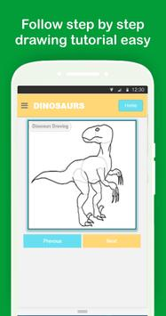 Easy Dinosaurs Drawing Tutorial Step by Step screenshot 2